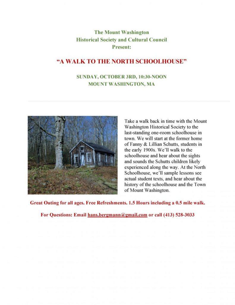 Schoolhouse Walk Flyer